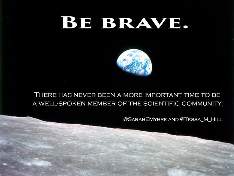 Be Brave, Even as You Find Your Science Communication Voice